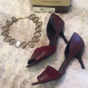 Merlot d'Orsay peep-toe heels - Perfect for fall🍁